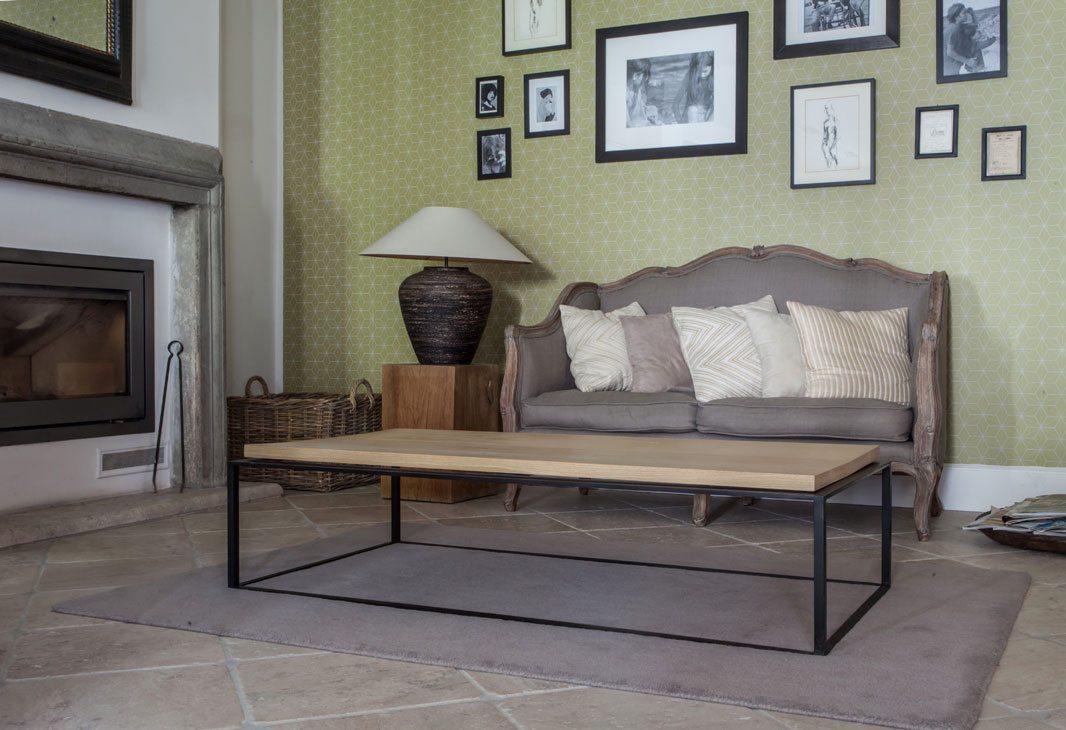 tavolo da salotto 90x100ferro