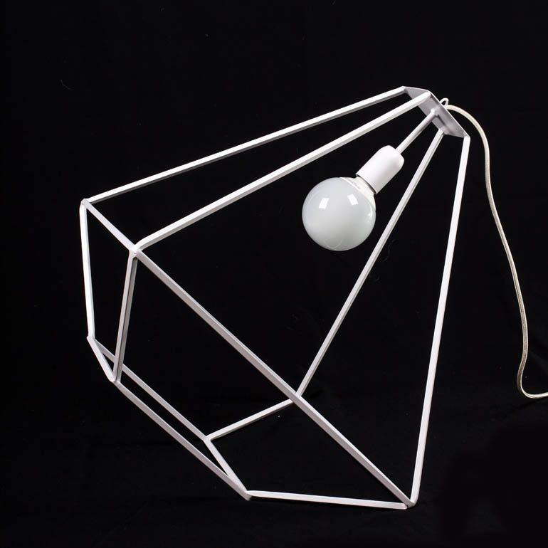 lampada lanterna ferro bianca