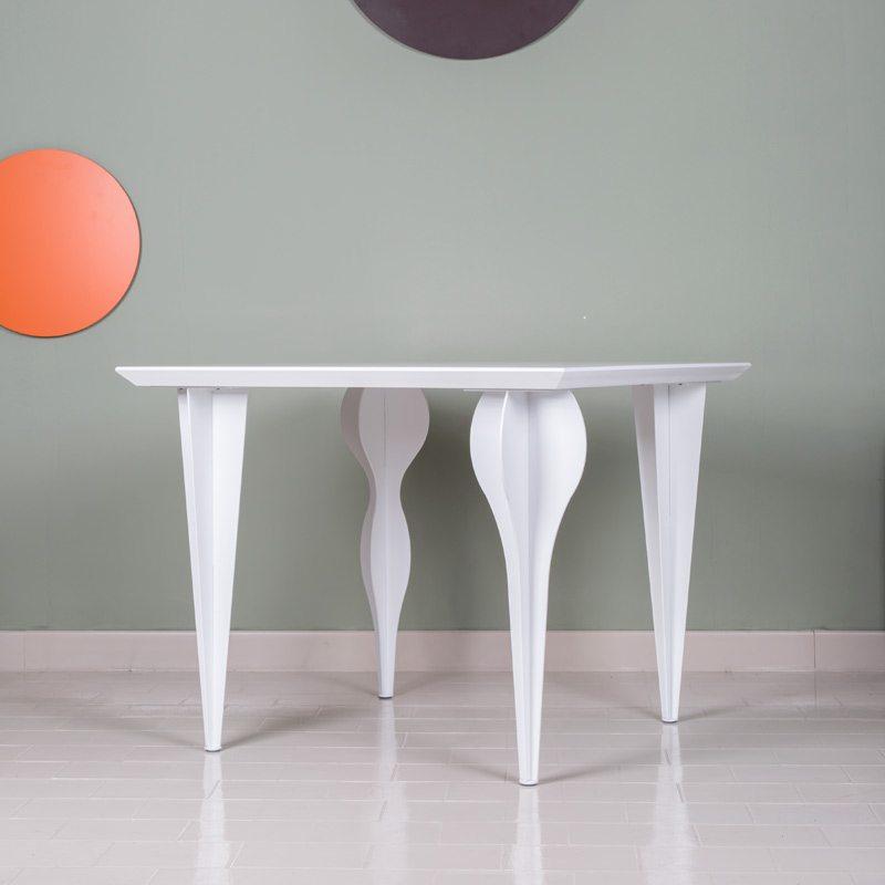gambe per tavoli in ferro bianco 90x100ferro